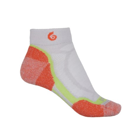 Point6 Sprinter Mini Running Socks - Merino Wool, Below the Ankle (For Men and Women) in Silver