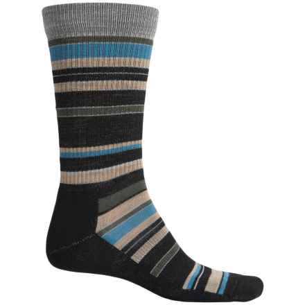 Point6 Stax Light Socks - Merino Wool, Crew (For Men and Women) in Black - 2nds