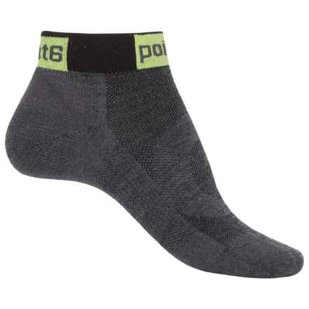 Point6 Stealth Ultralight Cycling Socks - Merino Wool Blend, Quarter Crew (For Women) in Gray - Closeouts