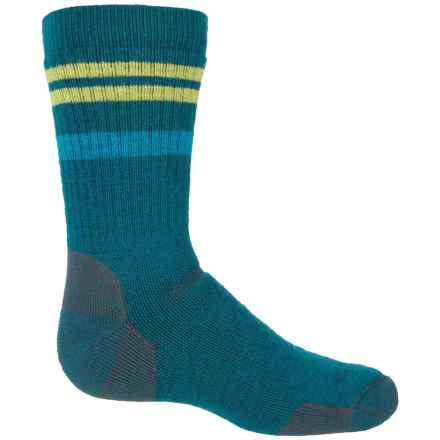 Point6 Striped Socks - Merino Wool, Crew (For Big Kids) in Aqua - Closeouts