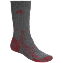 Point6 Summit Mid-Calf Socks - Extra Heavy (For Men and Women) in Grey/Red - 2nds