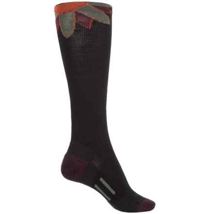 Point6 Sunset Extra-Light Socks - Merino Wool, Over the Calf (For Women) in Black - Closeouts