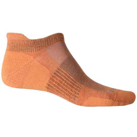 Point6 Tab Ultralight Running Socks - Merino Wool, Below the Ankle (For Women) in Melon - Closeouts