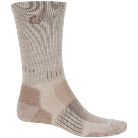 Point6 Tactical Tracker Socks - Merino Wool, Crew (For Men and Women) in Desert Sand