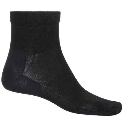 Point6 Tactical Trainer Socks - Merino Wool, Quarter Crew (For Men) in Black - 2nds