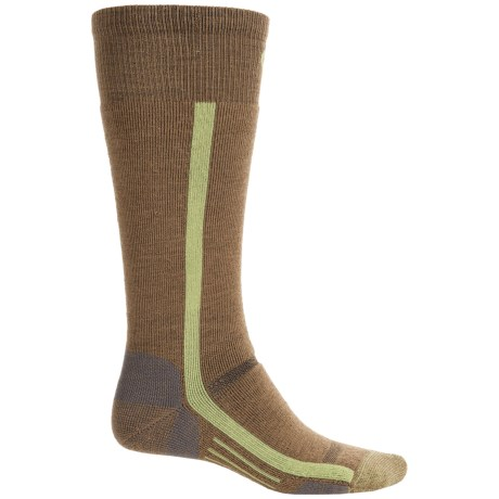 Point6 The Line Snowboard Socks - Merino Wool, Over the Calf (For Women) in 402 Coyote Brown