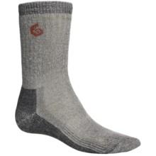 Point6 Trekking Core Socks - Merino Wool Blend, Heavyweight, Crew (For Men and Women) in Natural/Grey - 2nds