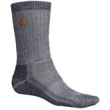 Point6 Trekking Core Socks - Merino Wool Blend, Heavyweight, Crew (For Men and Women) in Natural/Navy - 2nds