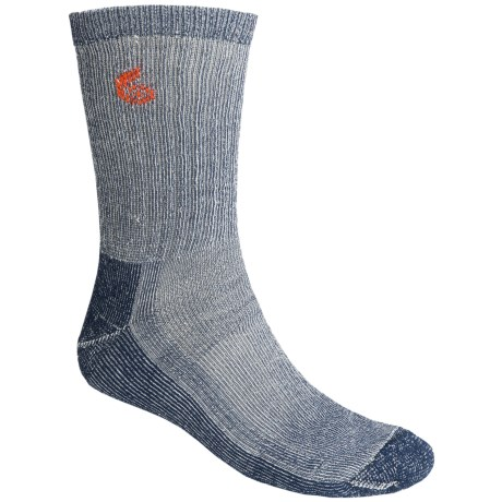 Point6 Trekking Core Socks - Merino Wool Blend, Heavyweight, Crew (For Men and Women) in Navy