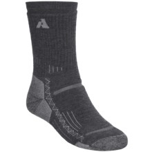 Point6 Trekking Crew Socks - Merino Wool, Midweight (For Men and Women) in Grey - 2nds