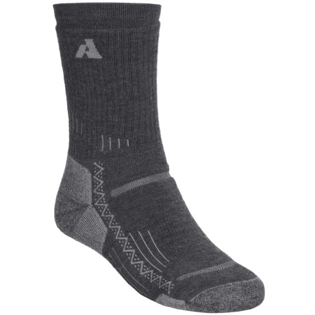 Point6 Trekking Crew Socks - Merino Wool, Midweight (For Men and Women) in Grey