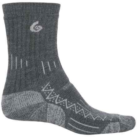 Point6 Trekking Socks - Wool, Crew (For Men and Women) in Gray - Closeouts