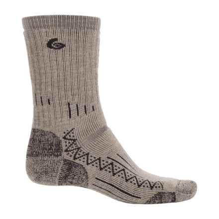 Point6 Trekking Socks - Wool, Crew (For Men and Women) in Taupe - Closeouts