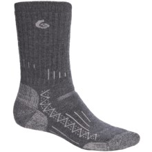 Point6 Trekking Tech Heavyweight Socks - Merino Wool, Crew (For Men and Women) in Grey - 2nds
