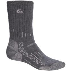 Point6 Trekking Tech Heavyweight Socks - Merino Wool, Crew (For Men and Women) in Taupe