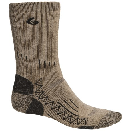Point6 Trekking Tech Heavyweight Socks - Merino Wool, Crew (For Men and Women) in Taupe