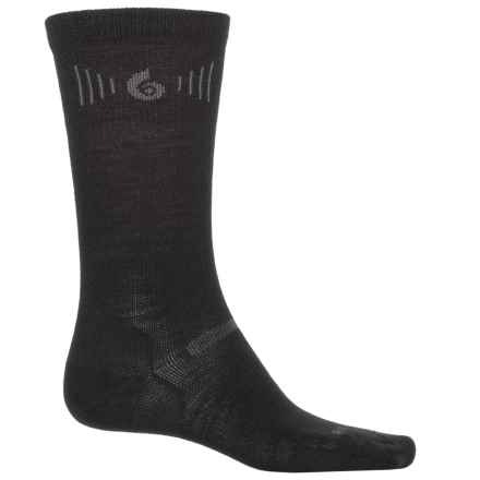 Point6 Ultralight Hiking Tech Socks - Merino Wool, Crew (For Men and Women) in Black - Closeouts
