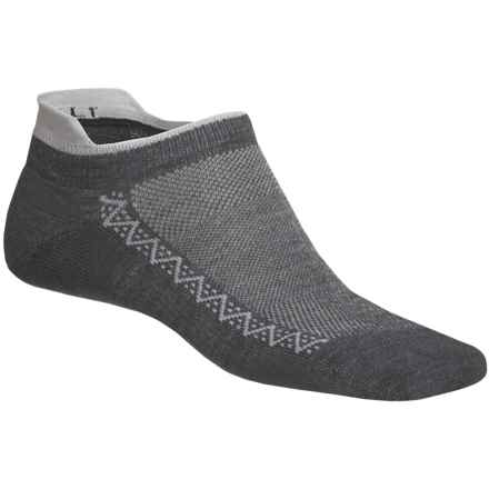 Point6 Ultralight Running Socks - Below the Ankle (For Men and Women) in Grey/Silver - 2nds