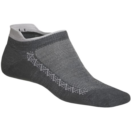 Point6 Ultralight Running Socks - Below the Ankle (For Men and Women) in Grey/Silver