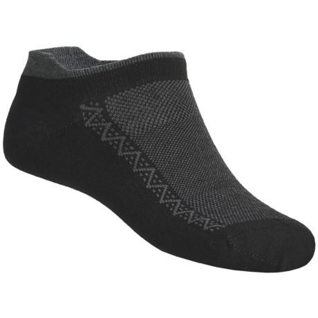 Point6 Ultralight Running Socks (For Men and Women) in Black/Grey