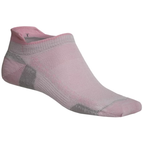 Point6 Ultralight Running Socks (For Men and Women) in Silver/Pink