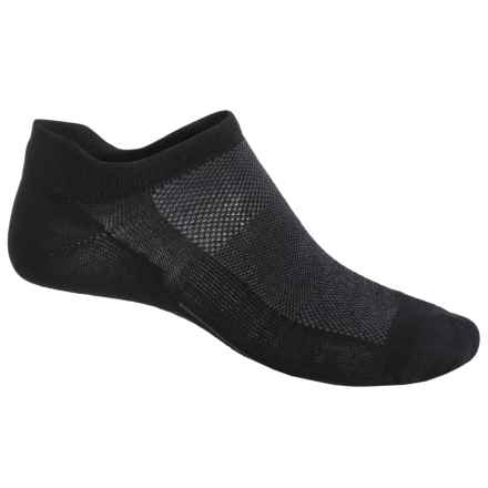 Point6 Ultralight Running Socks - Merino Wool, Below the Ankle (For Men and Women) in Black/Gray - Closeouts