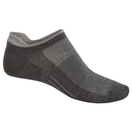 Point6 Ultralight Running Socks - Merino Wool, Below the Ankle (For Men and Women) in Gray - Closeouts