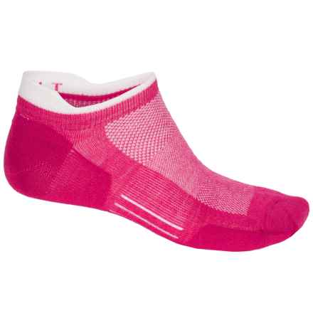 Point6 Ultralight Running Socks - Merino Wool, Below the Ankle (For Men and Women) in Lipstick - Closeouts