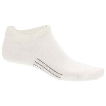 Point6 Ultralight Running Socks - Merino Wool, Below the Ankle (For Men and Women) in White - Closeouts