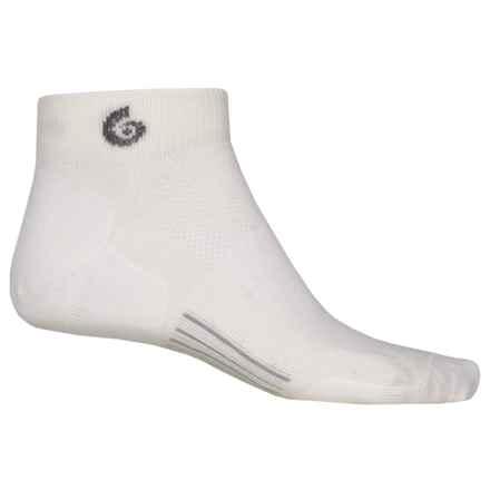 Point6 Ultralight Running Socks - Merino Wool, Quarter Crew (For Men) in White - Closeouts