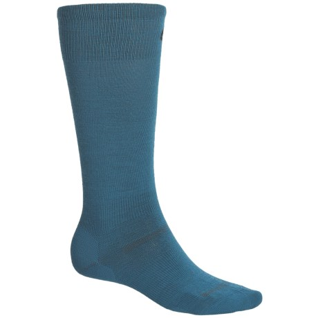 Point6 Ultralight Ski Socks - Merino Wool, Over-the-Calf (For Men and Women) in Teal