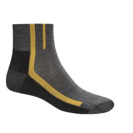 Point6 Velo Ultra Light Mini Cycling Socks - Merino Wool, Quarter Crew (For Men and Women) in Grey - 2nds