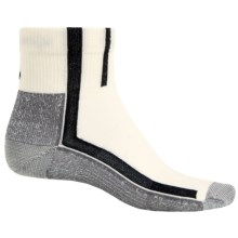 Point6 Velo Ultra Light Mini Cycling Socks - Merino Wool, Quarter Crew (For Men and Women) in White - 2nds
