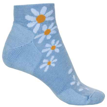 Point6 Wildflower Extra-Light Socks - Merino Wool, Quarter Crew (For Women) in Sky - Closeouts