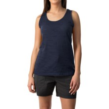 Pointelle Burnout Tank Top (For Women) in Navy - 2nds