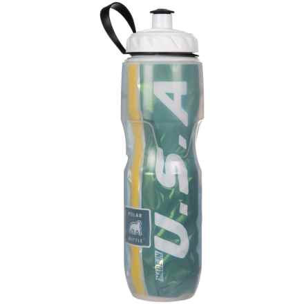Polar Bottle Insulated Team Water Bottle - 24 oz., BPA-Free in Green/Yellow - Overstock