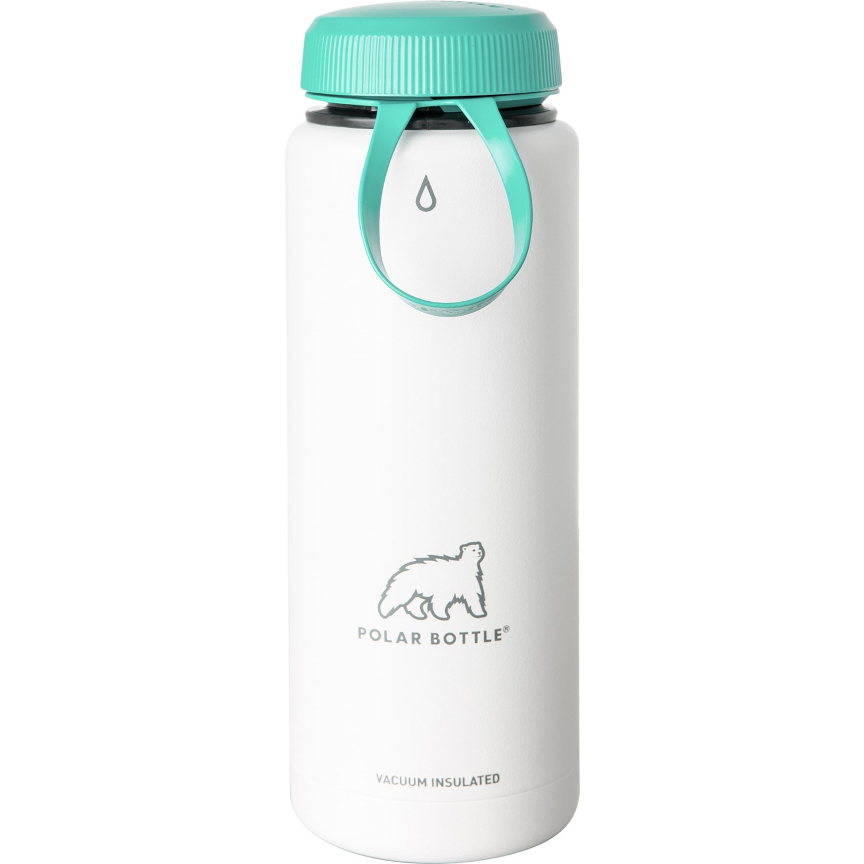 1-Pack Polar Insulated WHITE 24oz Water Bottles Bike//Hiking Dishwasher Safe New