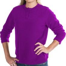 Polar Fleece Henley Shirt - Long Sleeve (For Women) in Fuchsia - 2nds