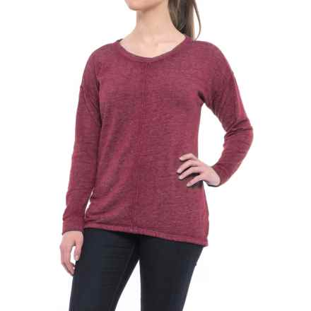 Polar Fleece-Lined Shirt - Long Sleeve (For Women) in Berry - 2nds