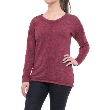 Polar Fleece-Lined Shirt - Long Sleeve (For Women) in Berry