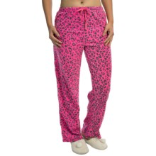 Polar Fleece Lounge Pants (For Women) in Pink Cheetah - 2nds