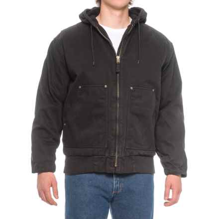 Polar King by Key Hooded Fleece-Lined Duck Jacket - Insulated (For Men) in Black - Closeouts