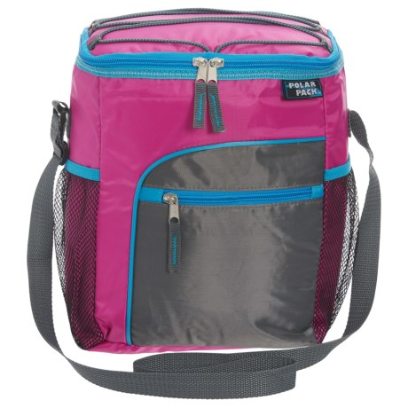 Polar Pack Insulated Cooler - 12-Can in Magenta/Dark Grey