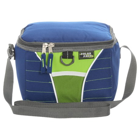 Polar Pack Insulated Cooler - 8-Can in Royal Blue/Green