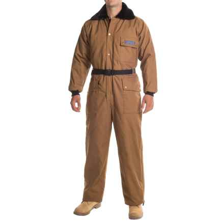 Polar Plus Duck Coveralls - Insulated (For Men and Big Men) in Brown - Closeouts