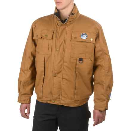 Polar Plus Insulated Duck Jacket (For Men and Big Men) in Brown - Closeouts
