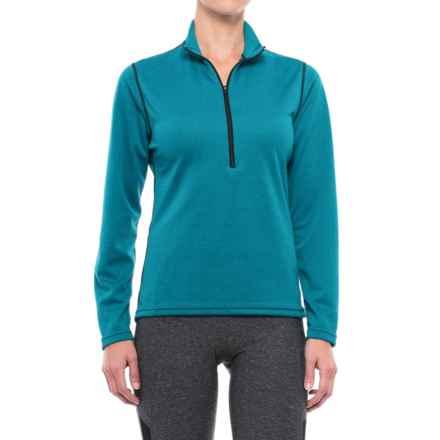 PolarFleece Polartec® Power Grid® Base Layer Top - Zip Neck, Long Sleeve (For Women) in Blue - Closeouts