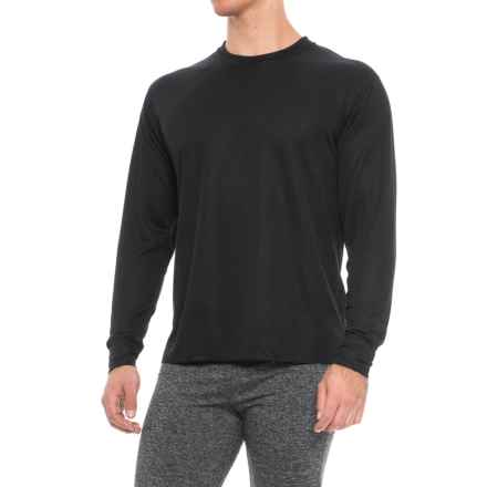 Polarmax Black Midweight Base Layer Top - Crew Neck, Long Sleeve (For Men) in Black - Closeouts