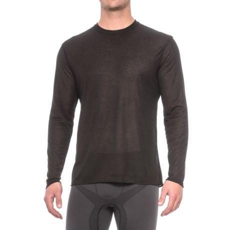 Polarmax Crew Neck Base Layer Top - Long Sleeve (For Men) in Black