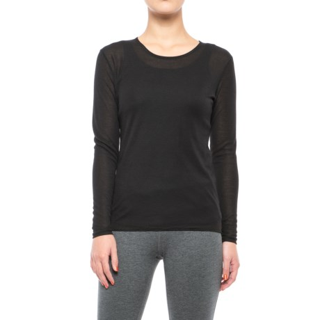 Polarmax Crew Neck Base Layer Top - Long Sleeve (For Women) in Black